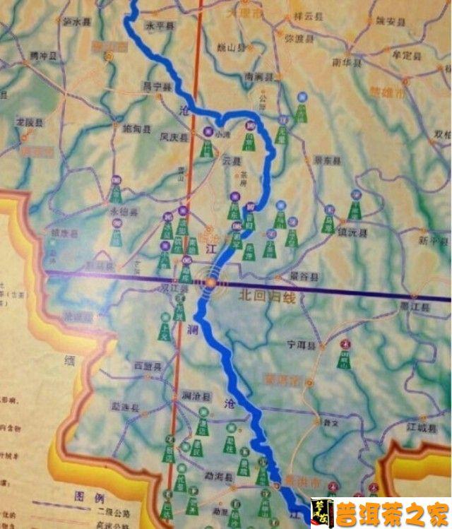 双江勐库冰岛村地图